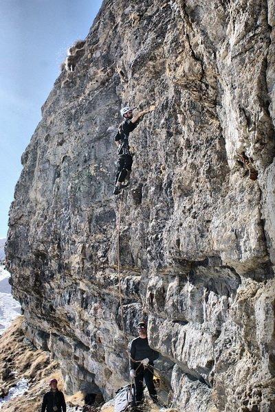 Зимнее восхождение на Ак-Кая в районе Безенги на Кавказе