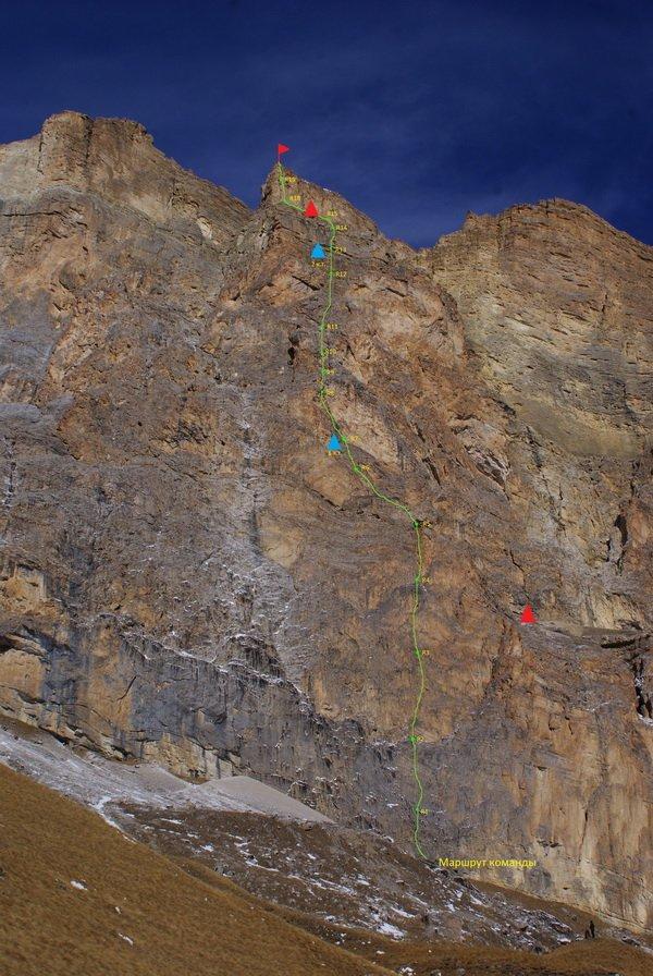 Маршрут зимнего восхождения на Ак-Кая в районе Безенги на Кавказе