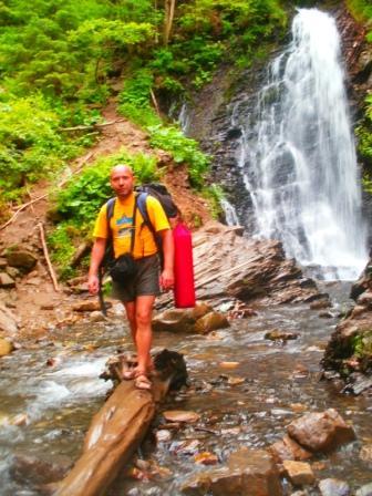 водопады горных рек Карпат